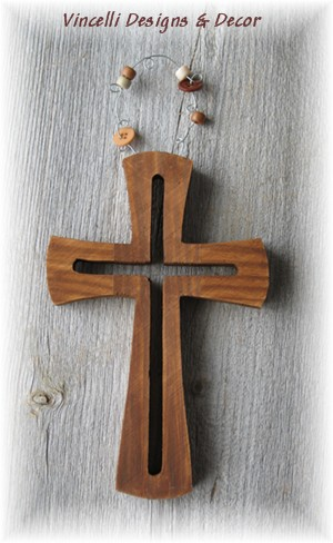 Decorative Wooden Cross-cross, wood, religious, gift