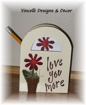 Wooden Gift Bag - Love You More-wooden gift bag, wood, handpainted,