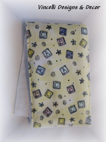 Burp Cloth - Yellow ABC