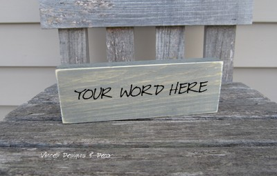 Single Word Block - YOU CHOOSE WORD